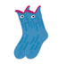K. Bell Wide Mouth Blue Fish Novelty Crew Socks (Calf Socks)