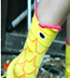 K. Bell Big Mouth Goldfish Crew - Orange Novelty Crew Socks (Calf Socks)