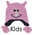Kids Animal Hat: Pink Pig Animal Beanie for Kids!