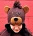 Wool and Fleece Animal Hat: Teddy Bear Beanie