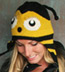 Wool and Fleece Animal Hat: Bumble Bee Beanie