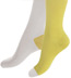 Minga Berlin Two Tone Socks - Two Face Yellow Cab Over the Knee Socks