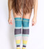 Multicolor Striped Over the Knees - Waterfall Lime