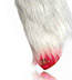 Furry Leg Warmers with Silver Sparkles- White